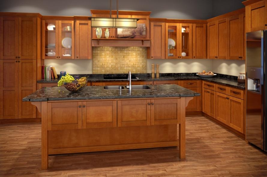 Cinnamon Shaker Kitchen Cabinets @ BuyCabinetDirect.Com