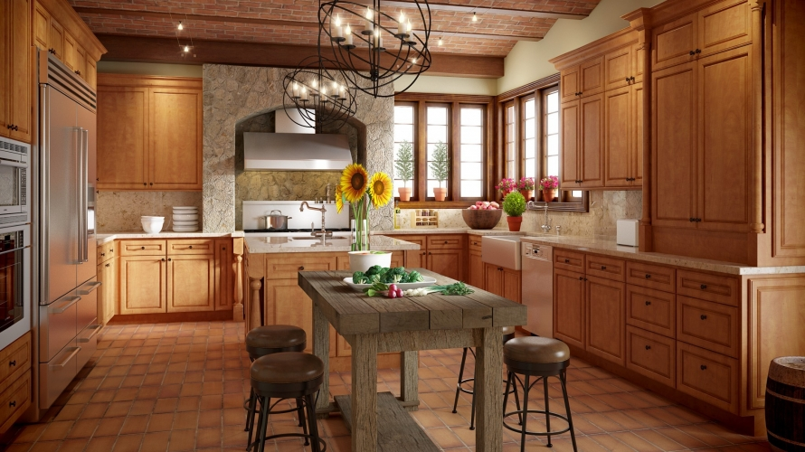 Maple Spice Kitchen Cabinets @ BuyCabinetDirect.Com