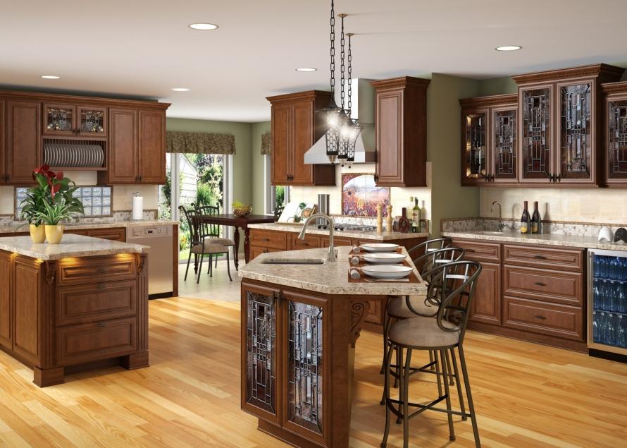 chocloate glaze kitchen cabinets @buycabinetdirect.com